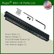 Amega Mini-Scout-Mount for Ruger Mini 14/30