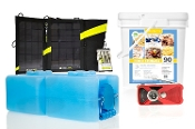 Lindon Farms® Complete Emergency Kit w/ Power, Radio, Food, H2O