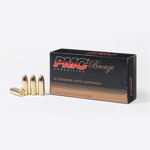 PMC 9mm 115 gr FMJ Ammunition 50/box
