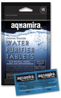 Aquamira Water Purification Tablets - Package of 24