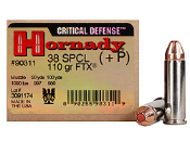 Hornady Critical Defense 38 Special +P 110gr - 20rd Box