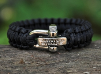 BARGIN BIN - ParaCord Survival Bracelet with Adj. SS Shackle