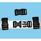 "1/2"" Plastic Side-Release Buckle - Black - 10 pack"