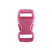 "5/8"" Plastic (16mm), Contoured Side-Release - Pink - 10 pack"