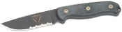 Ontario TAK 1 Knife, D2, Micarta Handle, ComboEdge, Nylon Sheath