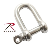 "5/32"" STRAIGHT D SHACKLE WITH SCREW PIN - 10 Pack"