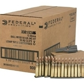 Federal AE Tactical XM193J .223 55 Grain FMJ rd - 900rd case