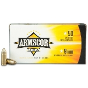 Armscor USA 9mm 124gr FMJ - 50 rd box
