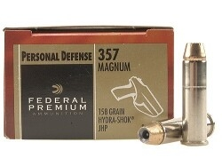 Federal Premium Personal Defense 357 MAG 158gr HSJHP - 20rd Box